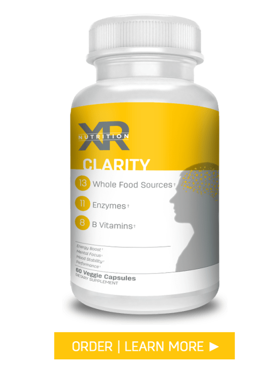 CLARITY: A natural blend of B vitamins combined with other key nutrients to fuel the brain and the body for power and mental clarity when the body needs it most. AVAILABLE at DiscoverCellularHealth.com