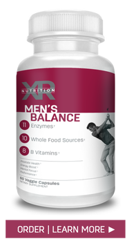 Men's Balance addresses the nutritional need for prostate health, memory enhancement and blood circulation. Men's Balance by XR Nutrition available at DiscoverCellularHealth.com