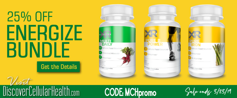 25% OFF Energize Bundle til 3/23/19 at DiscoverCellularHealth.com