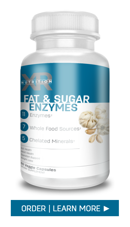 Sugar Digestive Enzymes by XR Nutrition available at DiscoverCellularHealth.com