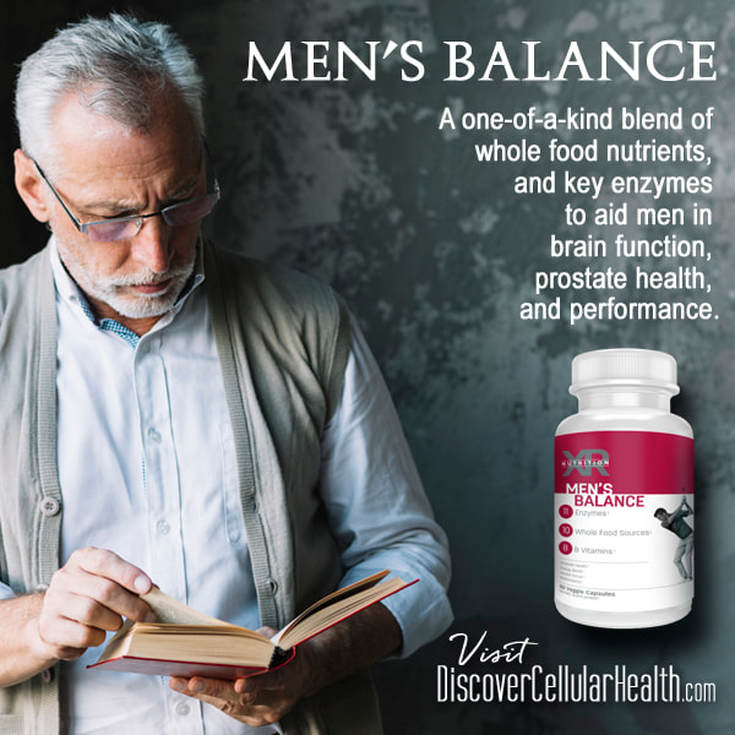 Ingredients in Men's Balance have been shown to improve mental sharpness, energy, bone strength, mood, vision, and reduce risks of cardiovascular diseases. And, stop getting up so much at night! Shop DiscoverCellularHealth.com