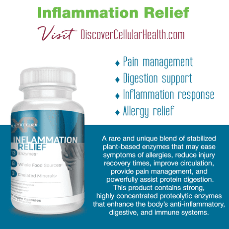Inflammation Relief by XR Nutrition available at DiscoverCellularHealth.com