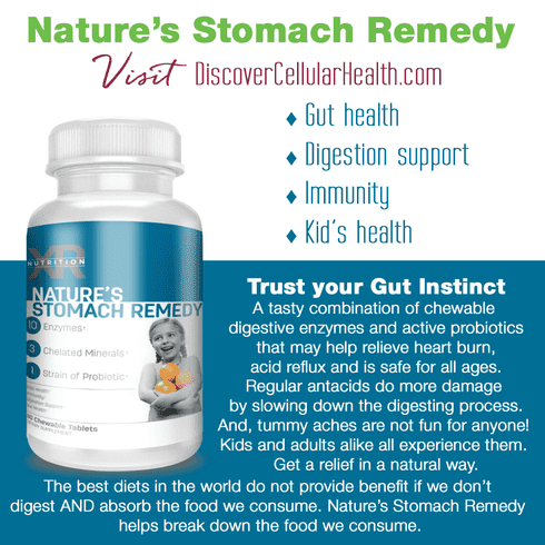 XR Nutrition Nature's Stomach Remedy available at DiscoverCellularHealth.com
